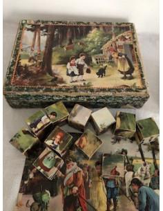 """Boite de cubes """"contes d'autrefois"""""""