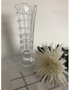 Vase haut, en verre taillé