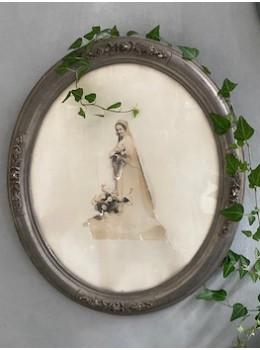 Cadre ancien photo de mariée
