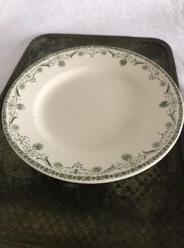 Plat sur piedouche faïence, vaisselle vintage BHV