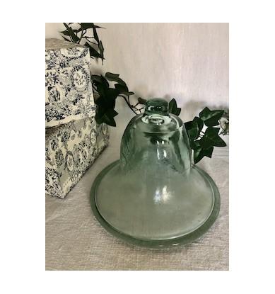 Petite cloche à melon, verre épais ancien